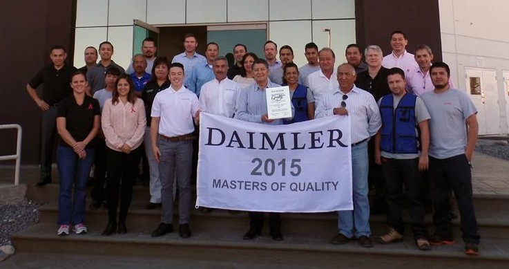 Masters of Quality Award 2015 für VOSS Mexiko